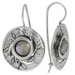 Серьги из серебра с лабрадором MVE1532LB