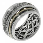 Кольцо антистресс Deno из серебра SNR4009CZ