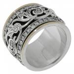 Кольцо антистресс Deno из серебра SNR4256CZ