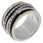 Кольцо антистресс Deno из серебра SNR4242CZ