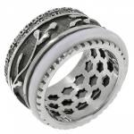 Кольцо антистресс Deno из серебра SNR3374WCZ