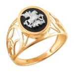 Перстень печатка из золота 01Т4611720-1