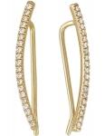Серьги-пины из золота с бриллиантами 01С637300