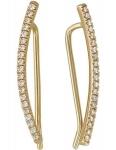 Серьги-пины из золота с бриллиантамим 01С617300