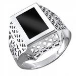 Перстень печатка из серебра 01Т4511717-1