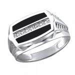 Перстень печатка из серебра 01Т4511710-1