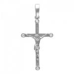 Крест из белого золота с бриллиантами 01Р620604