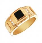 Перстень печатка из золота 01Т414269-1