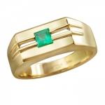 Перстень печатка из золота с изумрудом 01Т543559-2