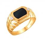 Перстень печатка из золота 01Т4111708-1