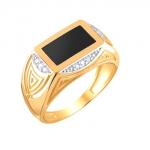 Перстень печатка из золота 01Т4111714-1