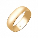 Обручальное кольцо из желтого золота 01О030386