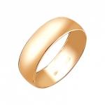 Обручальное кольцо из красного золота 01О010386
