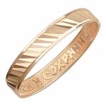 Обручальное кольцо из красного золота 01О710390