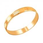 Обручальное кольцо из золота 01О710438
