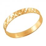 Обручальное кольцо из золота 01О710439