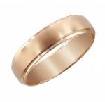 Обручальное кольцо из красного золота 01О710211