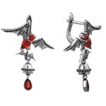 Серебряные серьги Sandara с гранатами ABE021