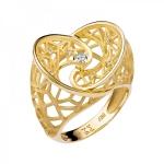Кольцо из желтого золота с бриллиантами 01К637631