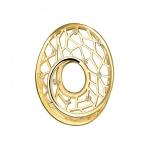 Подвеска из желтого золота с бриллиантами 01П637631