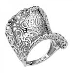 Кольцо из белого золота с бриллиантами 01К627629