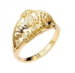 Кольцо из желтого золота с бриллиантами 01К637627