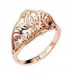 Кольцо из золота с бриллиантами 01К617627