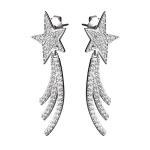 Серебряные серьги Sandara Ice с фианитами KKE177