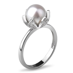 Серебряное кольцо De Luna с жемчугом KKR120