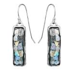 Серебряные серьги Yaffo с романским стеклом TZE443