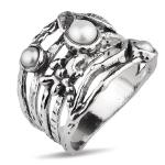 Серебряное кольцо Yaffo с жемчугом TZR393