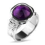 Серебряное кольцо Yaffo с аметистом TZR378