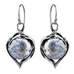 Серебряные серьги Yaffo с романским стеклом TZE370