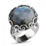 Серебряное кольцо Yaffo с лабрадоритом TZR300