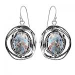 Серебряные серьги Yaffo с романским стеклом TZE293