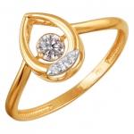 Кольцо из золота с фианитами 01К1111864Р