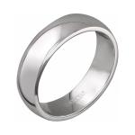 Обручальное кольцо из белого золота 01О020370