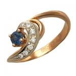 Кольцо из золота с сапфирами и бриллиантами 2К610226