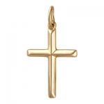 Подвеска-крестик из золота 01Р019006