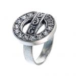 Серебряное кольцо Yaffo с фианитами SAR1202