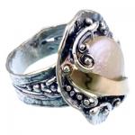 Серебряное кольцо Yaffo с жемчугом и золотом SAR1221