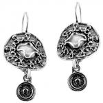 Серебряные серьги Yaffo с лунным камнем SAE1227