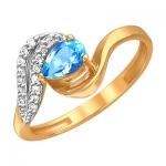 Кольцо из золота с топазами 01К3110974-1
