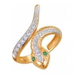 Кольцо золотое Змея 01К218512-1