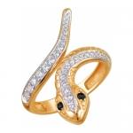 Кольцо золотое Змея 01К218512-3