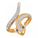 Кольцо золотое Змея 01К218512-2