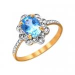 Кольцо из золота с топазами 01К3110973-1