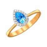 Кольцо из золота с топазами 01К3110976-1