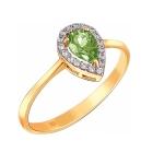 Кольцо из золота с хризолитом 01К3110976-4