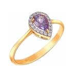 Кольцо из золота с аметистом 01К3110976-2